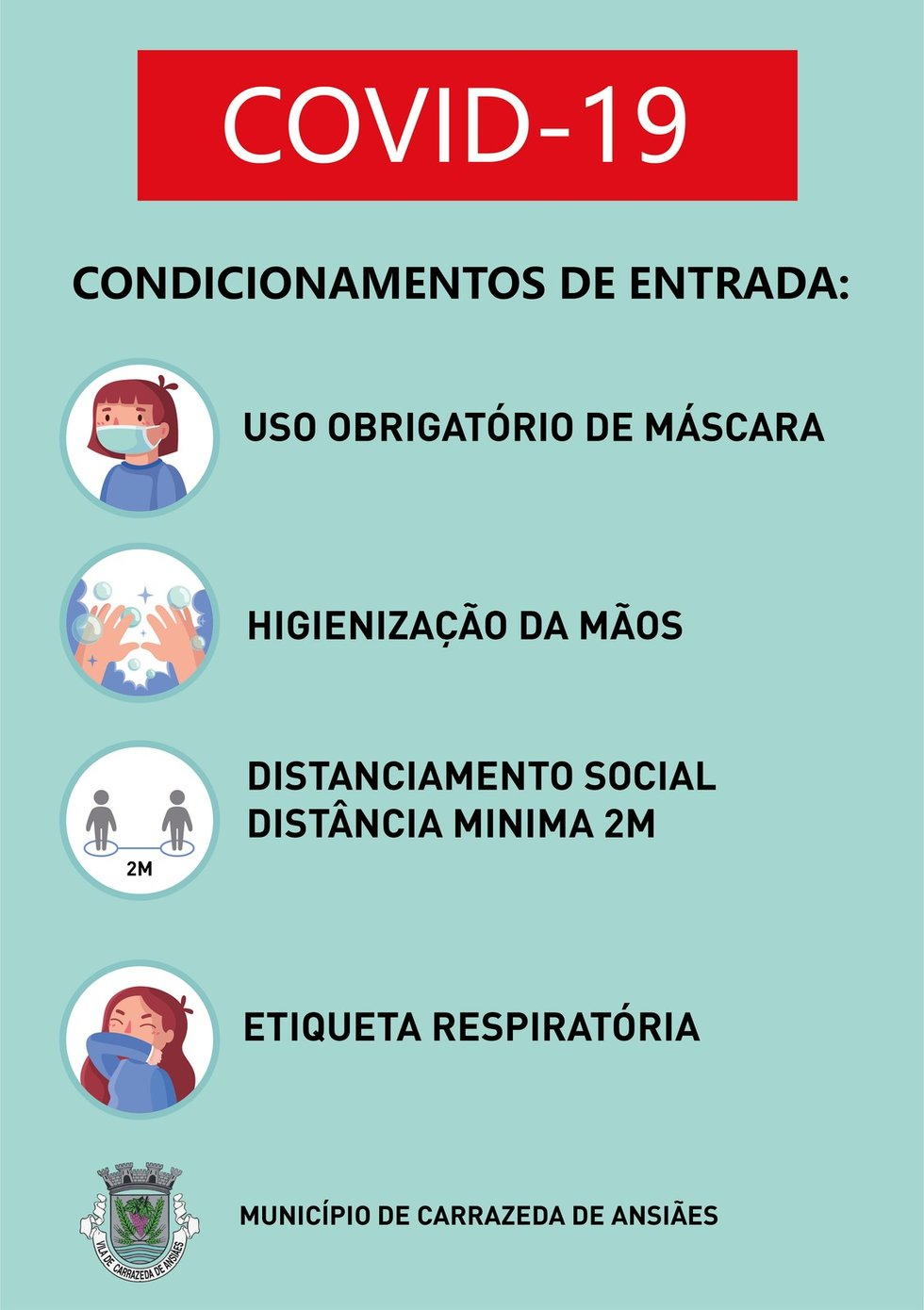 Cartaz COVID desconfinamento